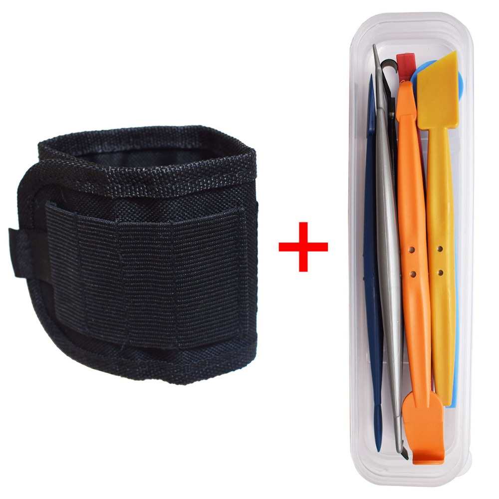 1PC Magnetic Wristband Portable Tool Bag + 7PCS Magnet Corner Scraper Car Stickers Decal Carbon Foil Film Wrapping Tools B20+D091PC Magnetic Wristband Portable Tool Bag + 7PCS Magnet Corner Scraper Car Stickers Decal Carbon Foil Film Wrapping Tools B20+D09