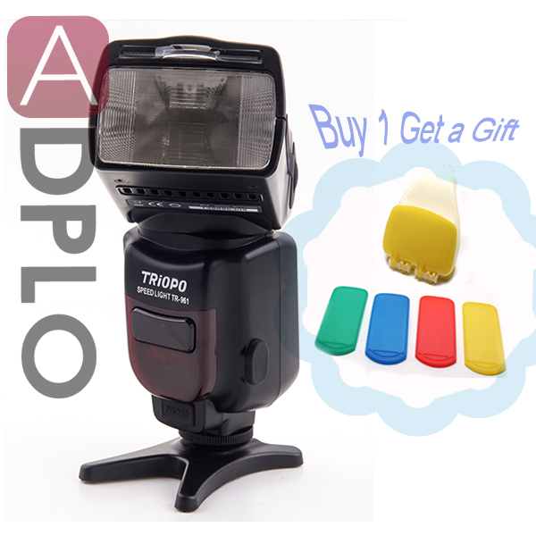 Buy 1 flash get a gift !TRIOPO TR-961 Wireless Slave Flash Speedlite suit for Canon 5D III 650D 600D 550D /Nikon D3x D3 D700