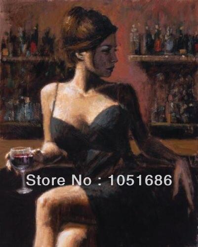 woman oil painting Beautiful