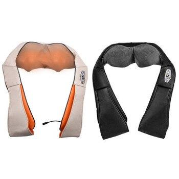1 Pcs Massagem Corporal Amassar Xale 4D Massagem Vértebra Dispositivo Doméstico Carro Profissional Pescoço Ombro Massager Pescoço Massager Ferramenta