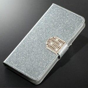 Image 1 - 豪華なスタンド財布フリップレザーケース Huawei 社ノヴァ 3i/Huawei 社ノヴァ 3 電話ケーススタンド TPU カバーでカードスロット