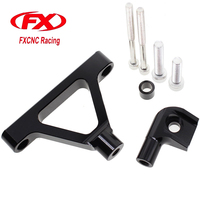 Adjustable Steering Stabilize Damper Bracket Mount Kit For Kawasaki 2007 2008 ZX6R 2007 2008 T6061 T6