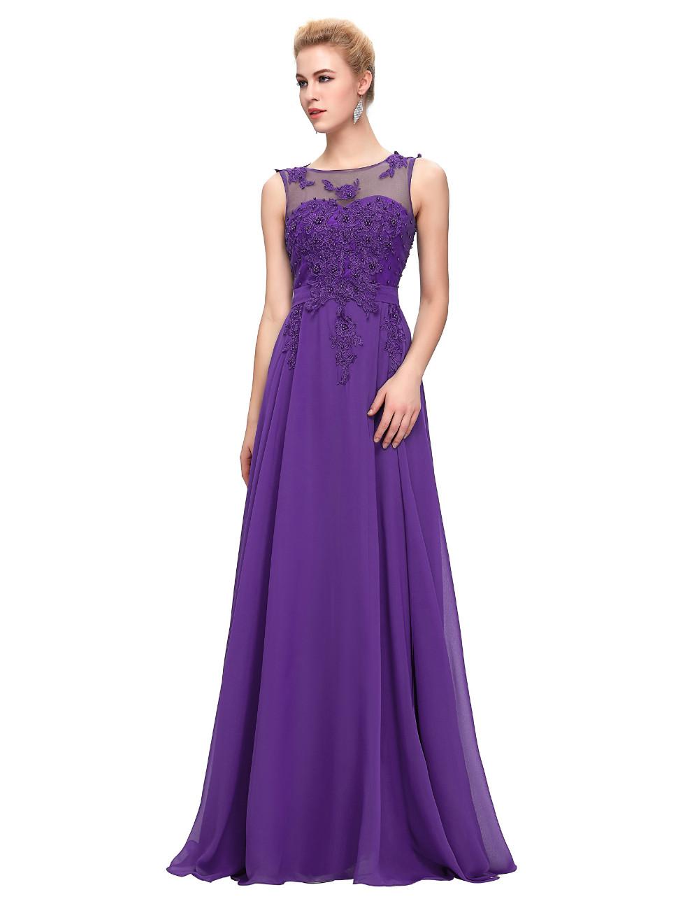 Grace Karin Elegant Long Evening Dresses 2016 Chiffon Pink Purple Red Royal Blue Black Formal Evening Dress Gown Abendkleider 30