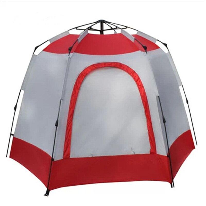 Tentes de qualité 240*240*175 CM professionnel automatique grande tente imperméable coupe-vent pour 5-8 personnes Camping randonnée voyage voyage équiper