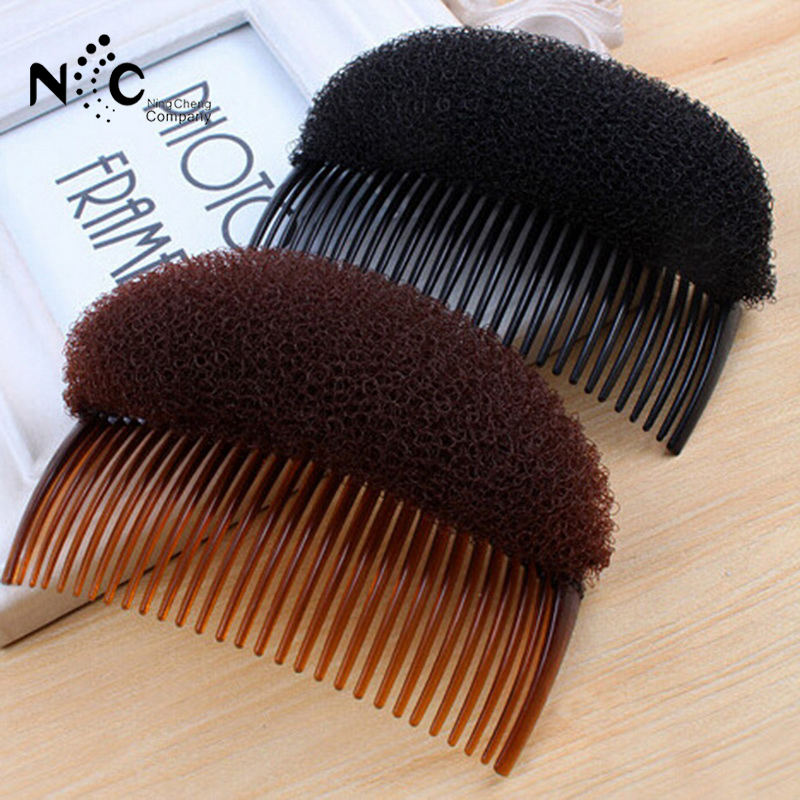 1Pcs/bag Useful Volume Inserts Hair Clip Pretty Girl Ponytail Hair Comb Head Band Pad Bun Maker Hair Band Accessory 2018 New