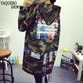 Print Army Green ladies jacket 2016 Harajuku Street Women Jacket Fashion Loose Casual Camouflage Jackets Women Coat YQ04