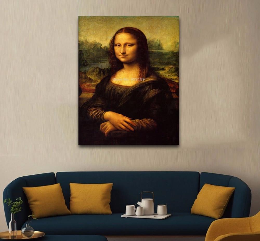 Home Decora Poster Mona Lisa Printed Leonardo Da Vinci Oil Painting