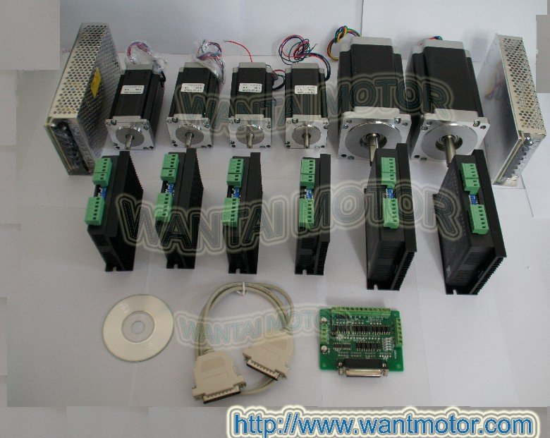 6 axis CNC controller kit 425oz-in and 1600 oz-in torque Wnatai stepper motors 7.8A/80VDC/256Microstep : 91lifestyle