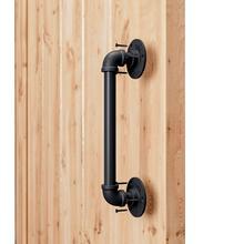12 дюймов/15 дюймов труба сарай дверная ручка черный деревенский промышленный Стиль Ручка Бар Потяните для ворот шкаф сарай дверь