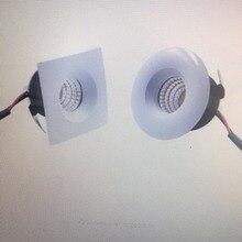 10pc/lot LED Mini COB Downlights Cabinet Lamp Recessed Ceiling Spot Lamp Round Square 38mm Cut Hole Aluminum 100-240V 3W 270lm 10pc lot 100