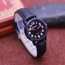 Чаояда горячие дети студентов простые кожаные кварцевые часы