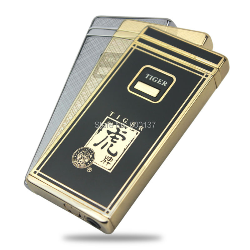 FIREDOG New in Box Electronic Touch Sensor Induction Windproof Cigarette Cigar Gas Lighter