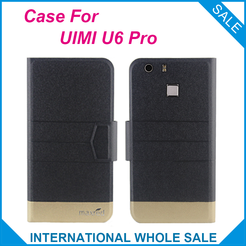 5 Colors Hot!UIMI U6 Pro Case Fashion Business Magnetic clasp Flip Leather Exclusive Case For UIMI U6 Pro Cover Phone Bag