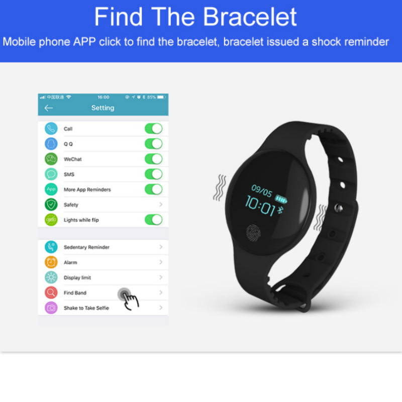 Image 4 - Fitness Tracker smart bracelet wristband bluetooth passometer message call reminder Compatible for andriod ios PkMi band-in Smart Wristbands from Consumer Electronics