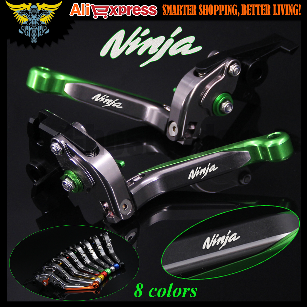 Laser Logo(Ninja) CNC Motorcycle Brake Clutch Levers For Kawasaki Z1000SX/NINJA 1000/Tourer 2011 2012 2013 2014 2015 2016 for kawasaki ninja 250 ninja250 2008 2015 ninja 300 ninja300 2013 2015 motorcycle aluminum short brake clutch levers black