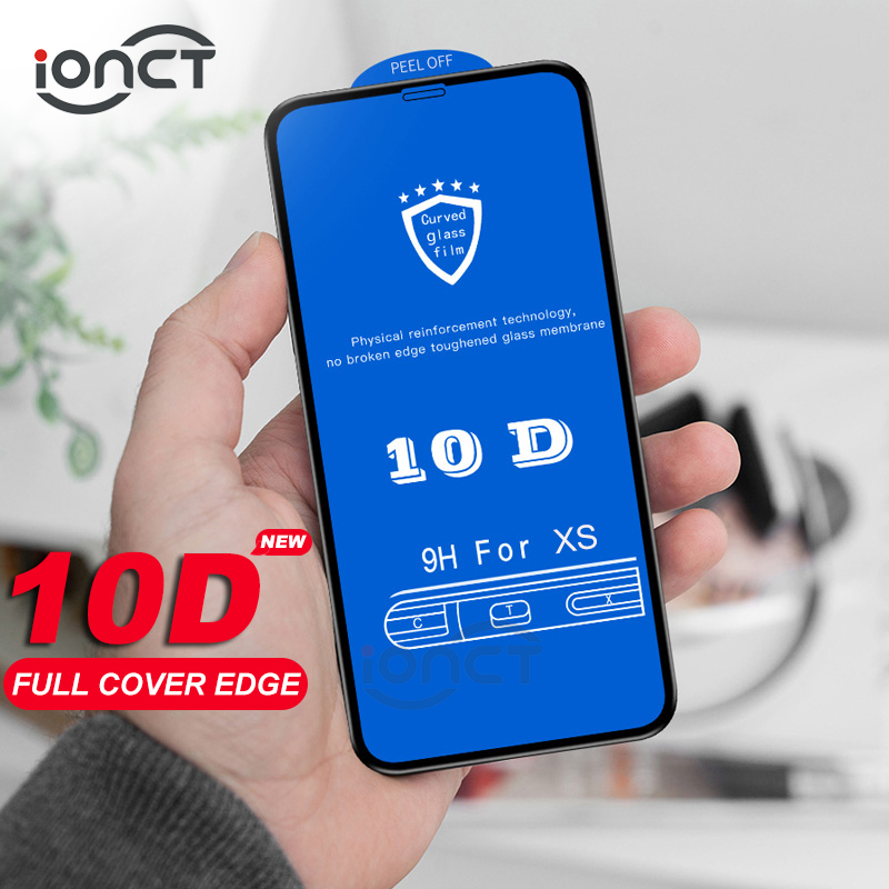 10D Protective Glass For IPhone X Xr Xs Max Glass Protection On IPhone X Xr Xs Max Screen Protector Full Cover Tempered Glass