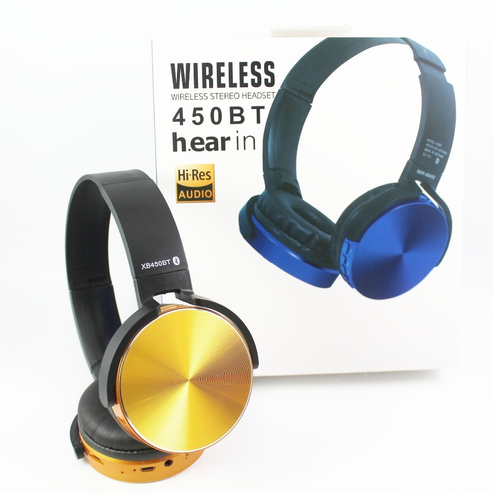 For Sony Mdr Xb450bt Wireless Bluetooth Headphone Heavy Bass Folding Earphone Stereo Headset With Nfc Fm Support Tf Card Aliexpress