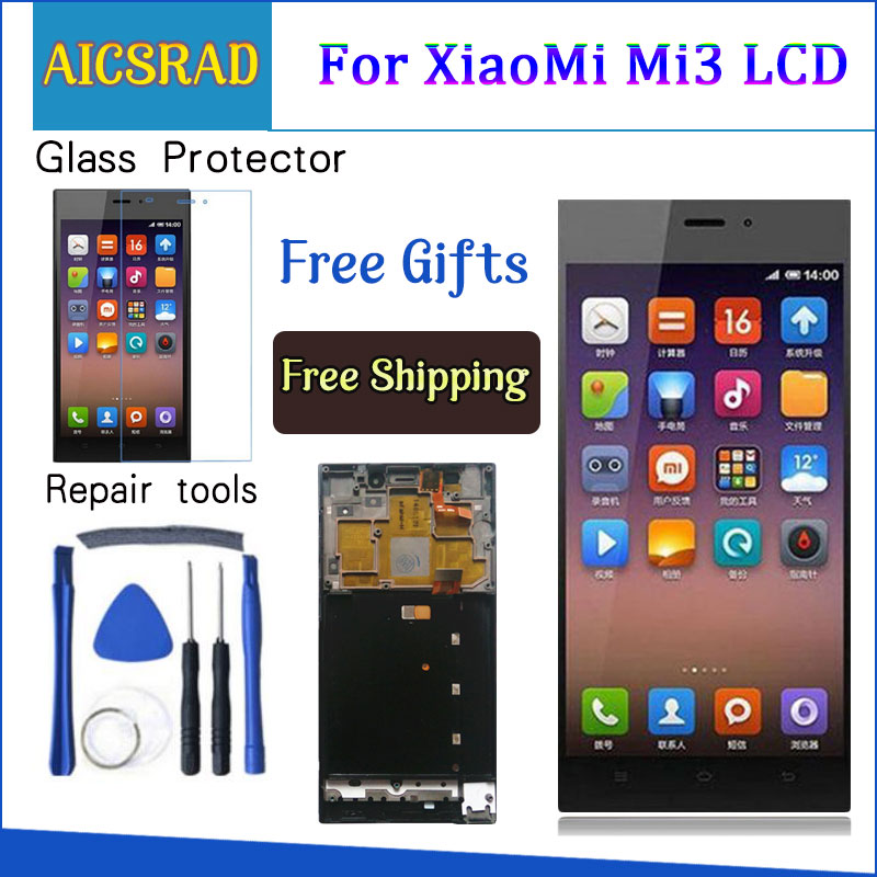 TDS-CDMA WCDMA 5.0LCD For XIAOMI Mi3 Display Touch Screen With Frame for Xiaomi Mi 3 LCD Display ReplacementTDS-CDMA WCDMA 5.0LCD For XIAOMI Mi3 Display Touch Screen With Frame for Xiaomi Mi 3 LCD Display Replacement