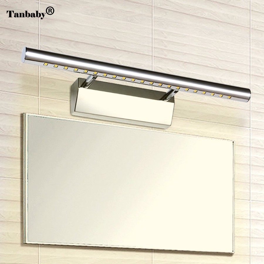 Tanbaby 3W 5W 7W 12LED 21LED 30LED 5050 SMD White/Warm white LED Mirror Front Light Lamp Bath Wall Stainless Steel h 265 h 264 960p 1080p 4mp 2592 1520 motorized 2 8 12mm lens bullet network ip camera poe ipcam ip67 waterproof camara cctv