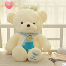 lovely blure scraf teddy bear toy bear toy cute bear toy gift doll about 60cm