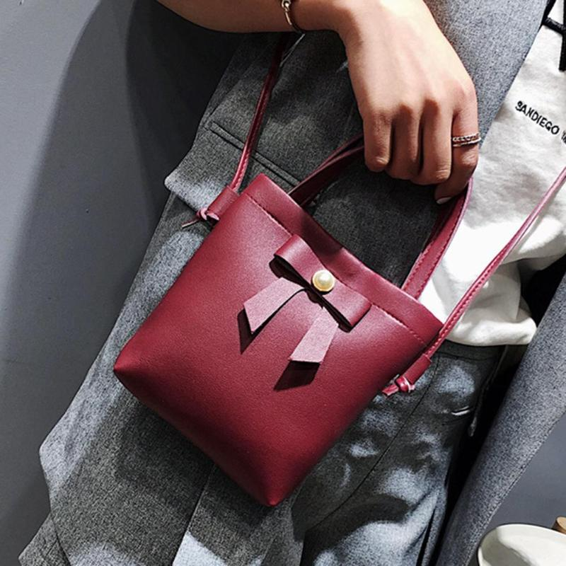 Fashion Simple Women Bowknot Crossbody Shoulder Bag Girls Messenger PU Leather Handbag small leather bag women black new   Fashion Simple Women Bowknot Crossbody Shoulder Bag Girls Messenger PU Leather Handbag small leather bag women black new