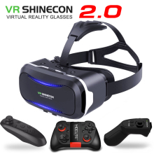New Original VR Shinecon II 2.0 Helmet Cardboard Virtual Reality 3D Glasses Mobile Phone