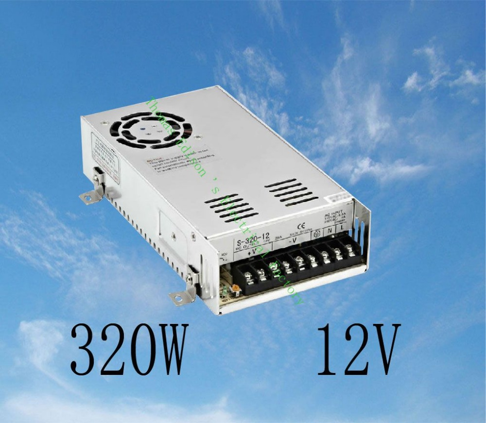 DIANQI led power supply switch 320W  12v  25A ac dc converter  S-320w  12v variable dc voltage regulator S-320-12 dianqi led power supply switch 350w 5v 50a ac dc converter s 350w 5v variable dc voltage regulator s 350 5
