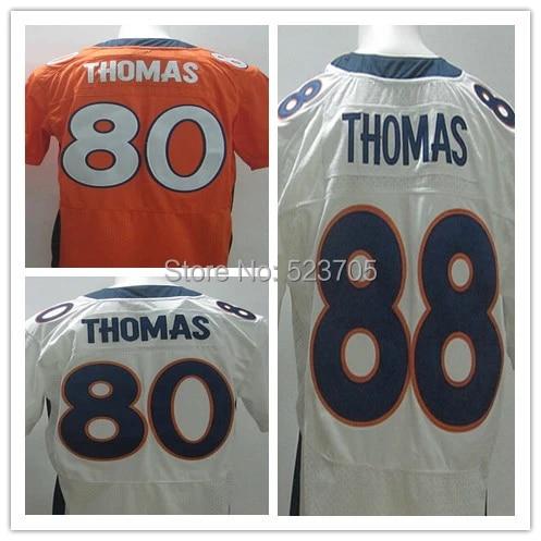 American Football USA Jerseys #80 Julius Thomas #88 Demaryius Thomas Orange/White/Blue,Size 40-56,authentic Stitched Jerseys