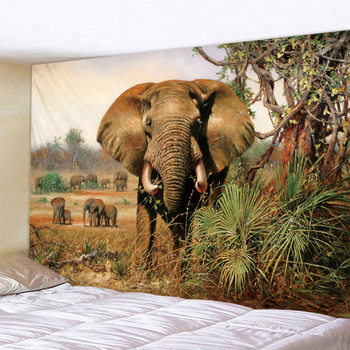 цена на Forest Elephant Tapestry Indian Mandala Tapestry Wall Hanging Tapestries Boho Bedroom Wall Rug Couch Blanket 6 Size