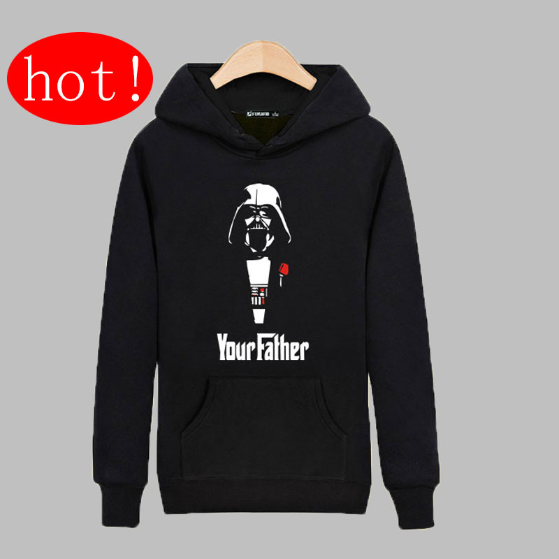 Your Father in Star Wars Sweatshirts Men Brand joker font b Hoodies b font Men font