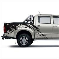 Наклейки для автомобиля 2 шт. mudslinger body задняя сторона графическая виниловая дополнительная наклейка для автомобиля на заказ для TOYOTA HILUX VIGO