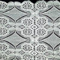 125 Cm Lace Fabric Ivory Graceful Eyelash Floral Wedding Bridal Lace Sewing Curtain Laces Wedding Clothing