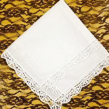 Rosaliya Set 12 Fashion Cotton Hankerchiefs 12-inch Wedding Handkerchief Sweet Heart