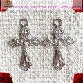 Frete grátis 100 pcs baratos mini one buraco liga cruz, itália pulseira cruz, pulseira rosário religioso cruz, crucifixo