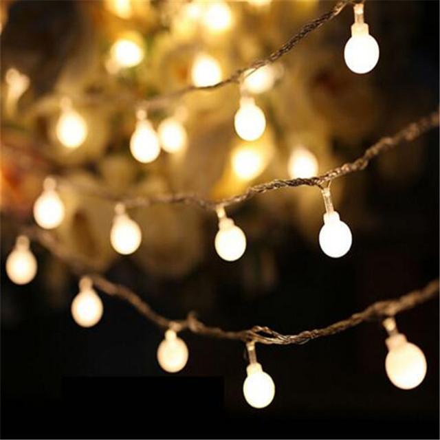 2016 Hot bola Fada 10 M led luzes cordas com 80led AC220V iluminação decoração da lâmpada Festival de férias luzes De Natal ao ar livre
