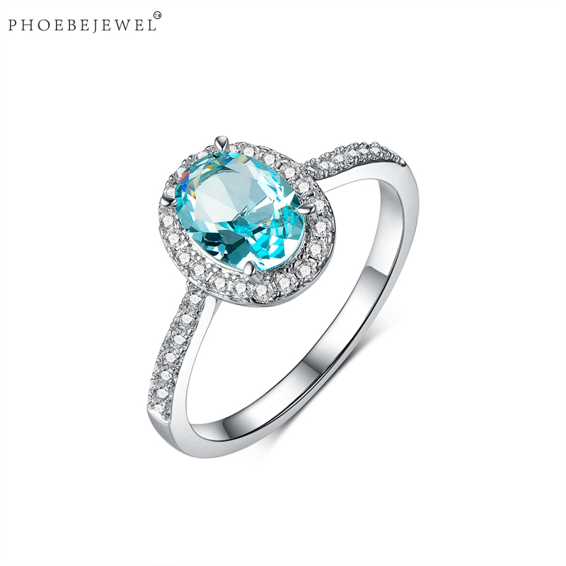 PHOEBEJEWEL Fashion Simple Finger Ring for Women Female Wedding Engagement Statement Party Jewelry