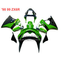 green black Motorcycle fairings for Kawasaki zx6r 1998 1999 Ninja 636 zx 6r fairing kit 98 99 xl05