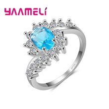Vogue CZ Stone Ring Original 925 Sterling Silver Metal and Shining Cubic Zircon Wedding Engagement Anniversary Jewelry(China)