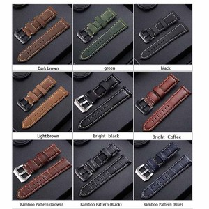Image 2 - Top Watchbands Leather Watch Bracelet for Panerai Samsung Super Quality Genuine Leather Strap 20mm 22mm 24mm 26mm Steel Buckle
