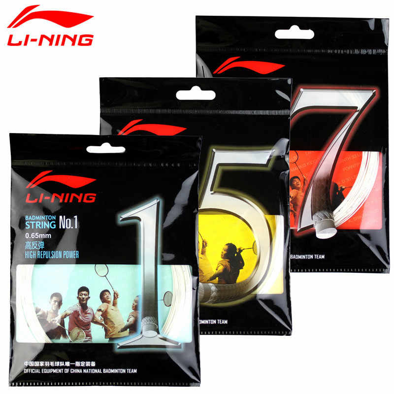 Lining Badminton Racket String of China Nation Team No.1/5/7 Durability Repulsion Power Li-Ning Net Li Ning Racquet Line L272OLA