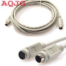 130cmPS2 PS/2 klawiatura mysz rozszerzenie męskie i żeńskie kabel zasilający 6 Pin płyta główna mysz na klawiatura z myszką czytnik kart elektronicznych AQJG