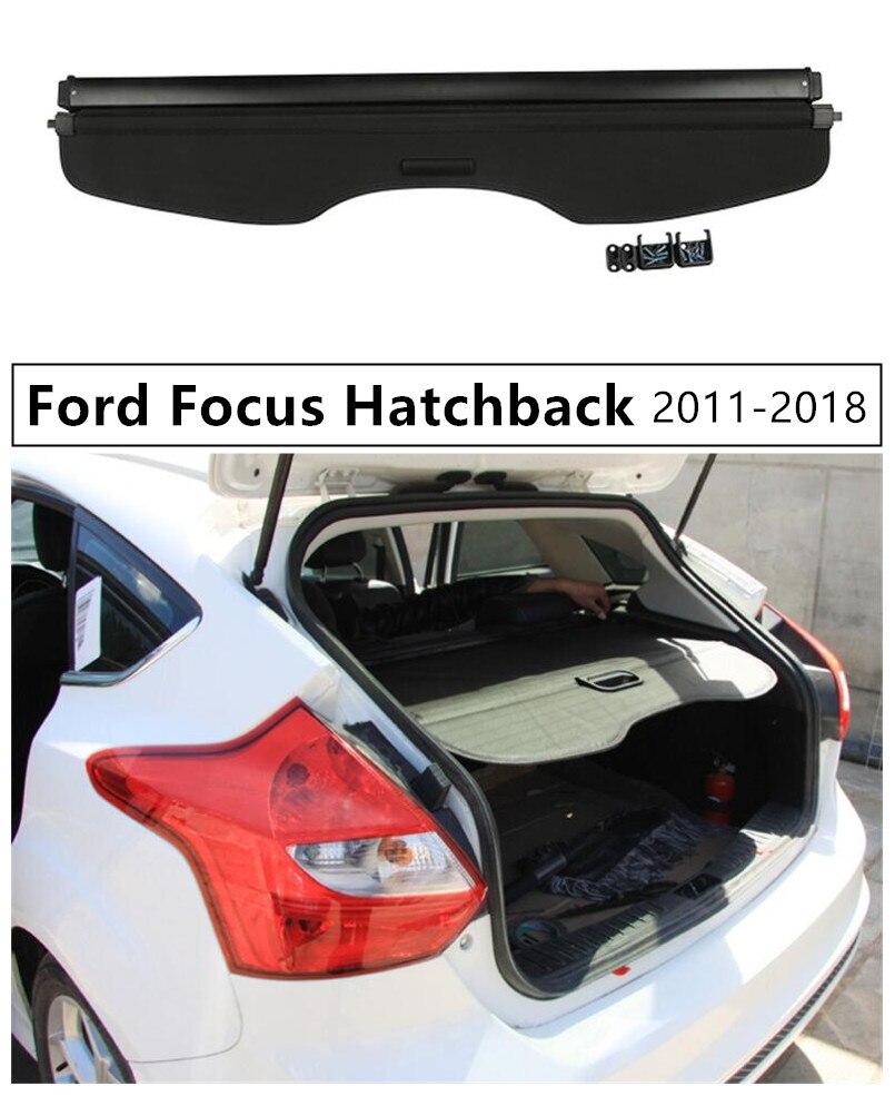 Protection de sécurité pour coffre arrière pour Ford Focus Hatchback 2011 2012 13 14 2015 2016 2017 2018 accessoires Auto de haute qualité