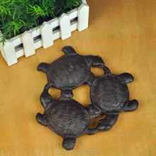 Cast Iron Pot Pad Tea Holder By Hand Insulation Bearing Black Turtle Crane