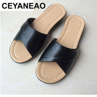 CEYANEAO2017 Summer fashion mother Shoes Women Soft bottom slippers large size elderly ladies slippers comfortable Female sandal