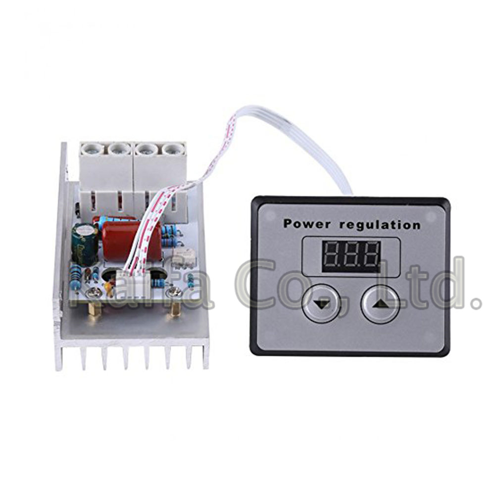 10000W AC 220V 80A Voltage Controller SCR Digital Voltage Regulator Speed Control Dimmer Thermostat цена