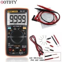 2018 Fashion AN8009 True RMS Auto Range Digital Multimeter NCV Ohmmeter AC/DC Voltage Ammeter Meter temperature measurement