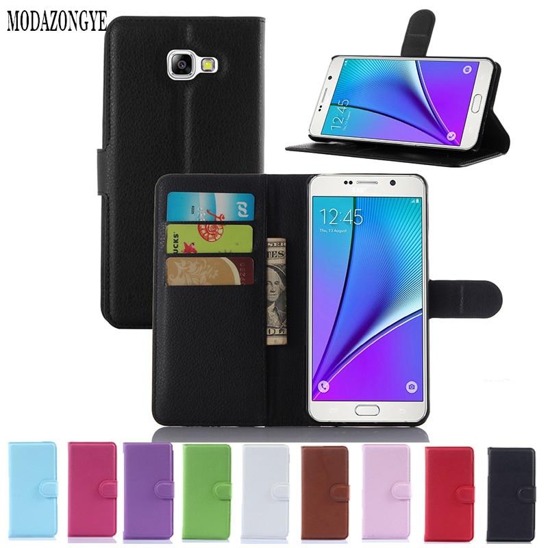 Portofel de lux Huse din piele PU pentru Samsung Galaxy A7 2016 A710F - Accesorii și piese pentru telefoane mobile