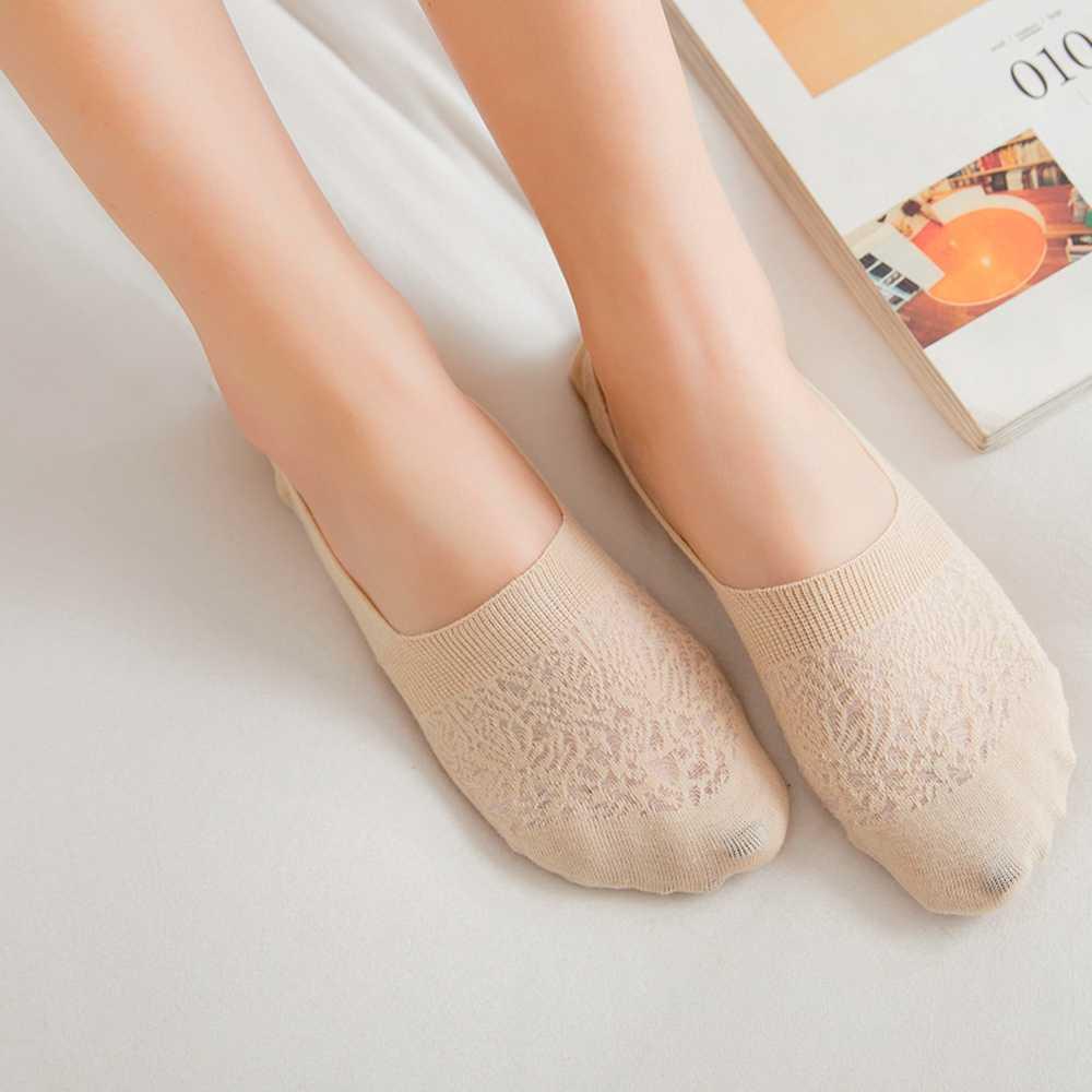 1 para cukierki kolor niewidoczne antypoślizgowe skarpetki stopki moda kobiety dorywczo bawełniane oddychające skarpetki do kostek elastyczne szorty wyroby pończosznicze