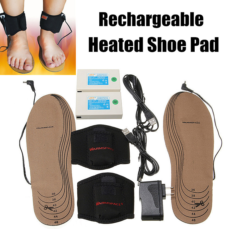 55c852c07a5d Hot Sale A Pair Insoles Rechargeable Powered Heated Winter Insole Shoes Pad  Foot Warmer For Winter Sports Warmer Insoles