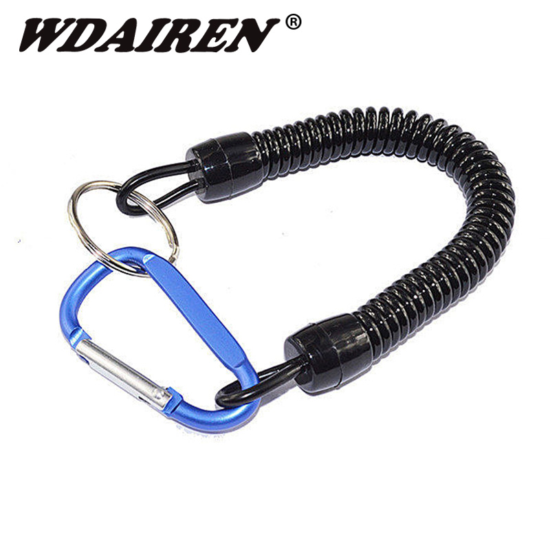 1Pcs Fishing Lanyards Boating Ropes Retention String Fishing Rope With Camping Carabiner Secure Lock Fishing Tools Accessories